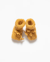 Load image into Gallery viewer, Yellow alpaca wool baby boots