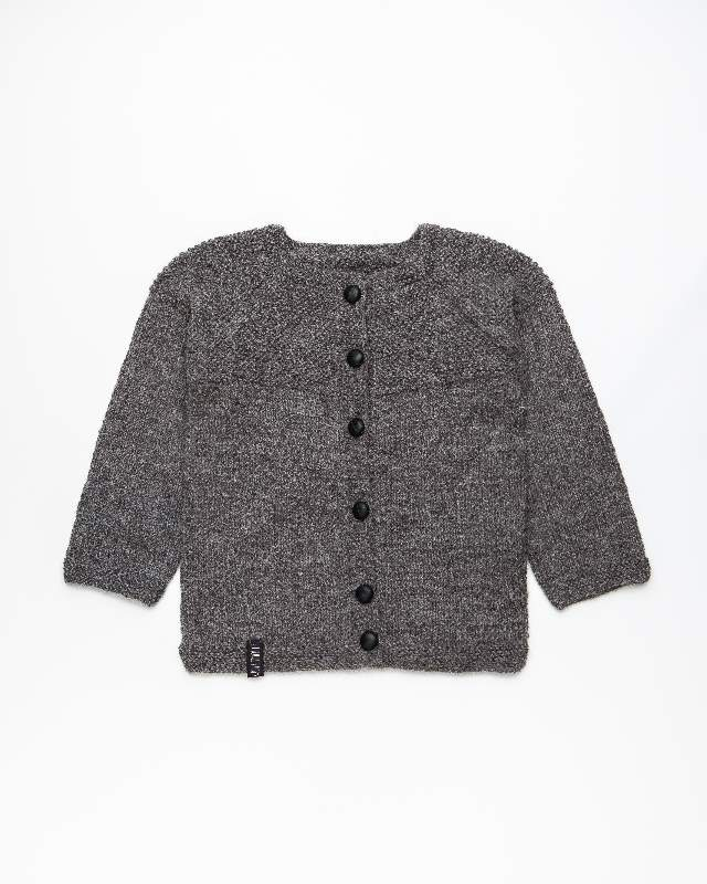 Dark grey alpaca wool jumper