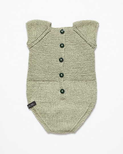 Alpaca wool and silk fibre romper