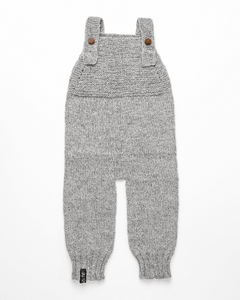 Light grey alpaca wool romper
