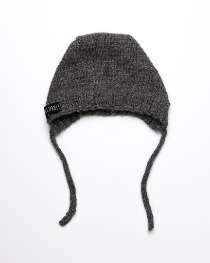 Dark grey alpaca wool hat