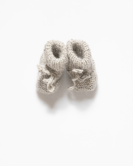 Light grey baby boots