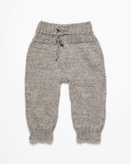Medium grey alpaca wool pants