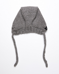 Medium grey alpaca wool hat