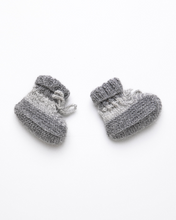 Load image into Gallery viewer, Dark grey striped baby boots