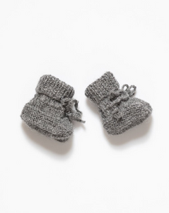 Grey baby boots
