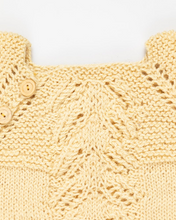 Load image into Gallery viewer, Yellow silk and alpaca wool dress