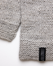 Load image into Gallery viewer, Light grey alpaca wool jumper