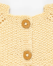 Load image into Gallery viewer, Lemon yellow silk and alpaca wool dress