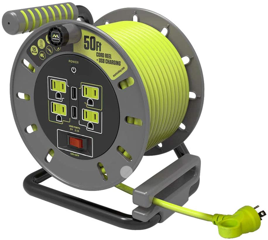 Masterplug 30 ft. or 50 ft. Extension Cord Reels - FREE SHIPPING!