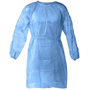 Level 1 Unisex Blue 45gms Gown (20 Pack - $2.80 each)