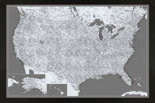 Load image into Gallery viewer, Dark Grey Scale White USA Map