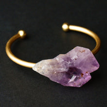 Load image into Gallery viewer, Raw Amethyst Bangle