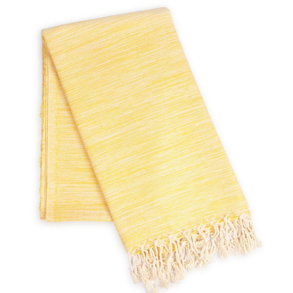 Yalova Super Soft Marbled Turkish Towel - Yellow