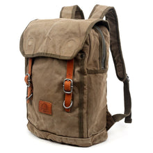 Load image into Gallery viewer, Forest Military-Inspired Canvas Backpack