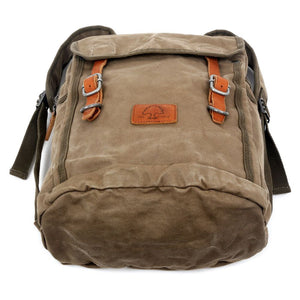 Forest Military-Inspired Canvas Backpack