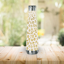 Load image into Gallery viewer, Gold Leopard Print Water Bottle