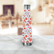 Load image into Gallery viewer, Red Floral Water Bottle