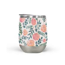 Load image into Gallery viewer, Watercolor Floral Wine Tumbler