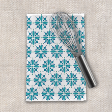 Load image into Gallery viewer, Teal Tile Tea Towel