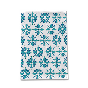 Teal Tile Tea Towel