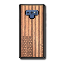 Load image into Gallery viewer, Slim Wooden Phone Case (American Flag in Mahogany)