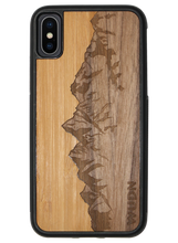Load image into Gallery viewer, Slim Wooden Phone Case (Sawtooth Mountains Bamboo Sky)