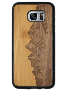 Slim Wooden Phone Case (Sawtooth Mountains Bamboo Sky)