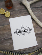 Load image into Gallery viewer, Whiskey Label Kitchen Bar Towel