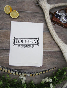 Bourbon Label Kitchen Bar Towel