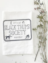 Load image into Gallery viewer, Black Thumb Society Cotton Kitchen Towel