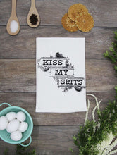 Load image into Gallery viewer, Kiss My Grits Kitchen Towel