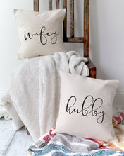 Load image into Gallery viewer, Hubby and Wifey Pillow Covers, 2-Pack