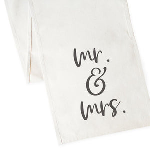 Mr. & Mrs. Cotton Canvas Table Runner