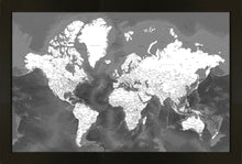 Load image into Gallery viewer, Modern Black World Map
