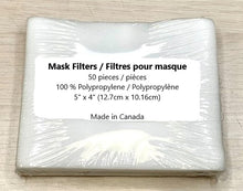 Load image into Gallery viewer, Mask Filters / Filtres pour masque (50 pcs / pack)