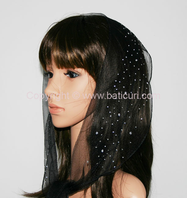 37-15  OB Nylon (N) Solid Waterfall Rhinestones- Black