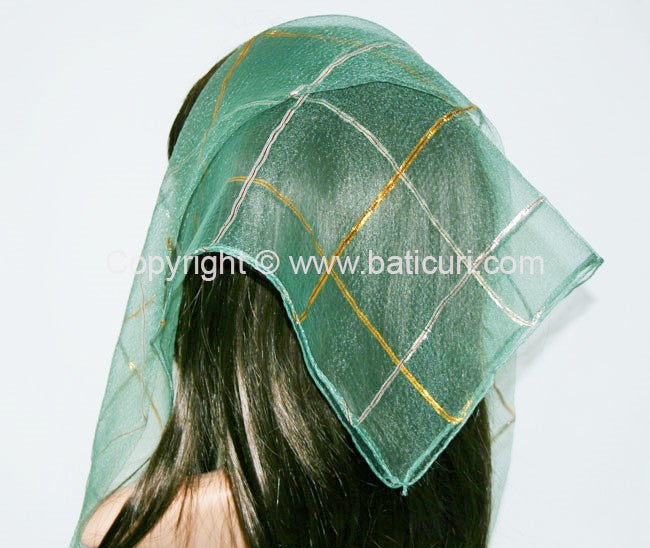 """Gold & Silver Lurex Lines"" Green,Тёмно-зелёная,Verde închis"