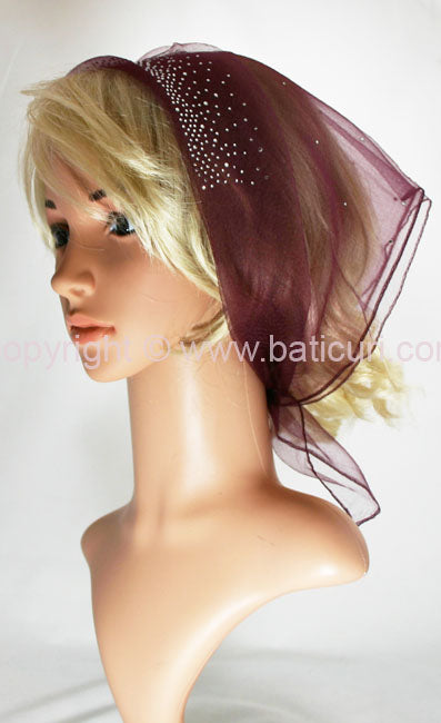 "New! ""Lia Design-Front and Back Scattered Rhinestones""-Burgundy"