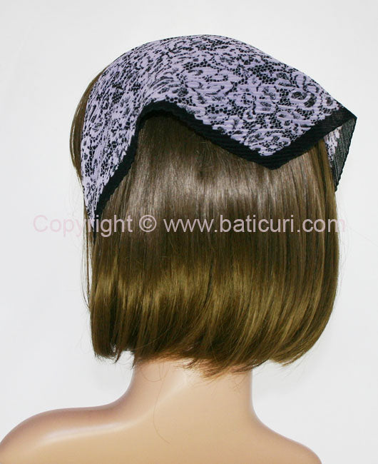 """102-16 Pleated Italian lace all over"" Purple"