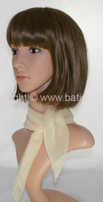 """58-124 Small Sheer Chiffon Scarf""-Ivory"
