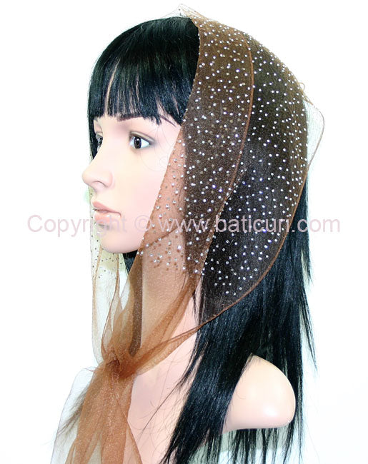 OB Nylon (N) Solid Dense Scattered Rhinestones- Brown