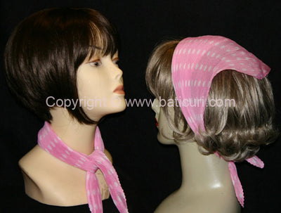 """Polyester Pleated Polka Dots"" Pink"