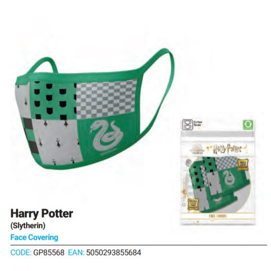 2 Pack Hp Slytherin Face Covering