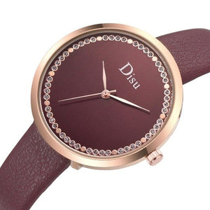 Women's Watches Top Brand Fashion Womens Ladies Simple Watches Zegarek Damsk iLeather Analog Quartz Wrist Watch clock saat Gift