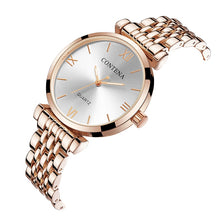 Load image into Gallery viewer, Women's Wrist Watch 2019 Luxury Brand Contena Ladies Quartz Watch Full Stainless Steel Female Clock Wristwatches reloj mujer