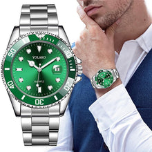 Load image into Gallery viewer, Men's Watch New Luxury Business Watch Men Waterproof Date Green Dial Watches Fashion Male Clock Wrist Watch Relogio Masculino