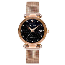 Load image into Gallery viewer, New Top Band Women's Wristwatch Noble Quartz Watch  Magnetic Strap Starry Round Dial Wrist Watches For Business Traveling