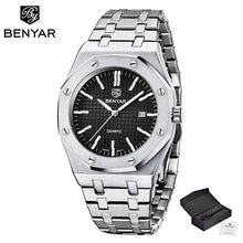 Load image into Gallery viewer, 2020 New men's watches BENYAR quartz luxury watch men top luxury brand wrist watch men steel waterproof clock Relogio Masculino