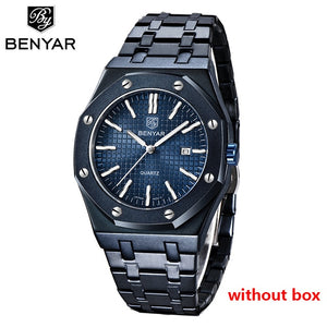 2020 New men's watches BENYAR quartz luxury watch men top luxury brand wrist watch men steel waterproof clock Relogio Masculino
